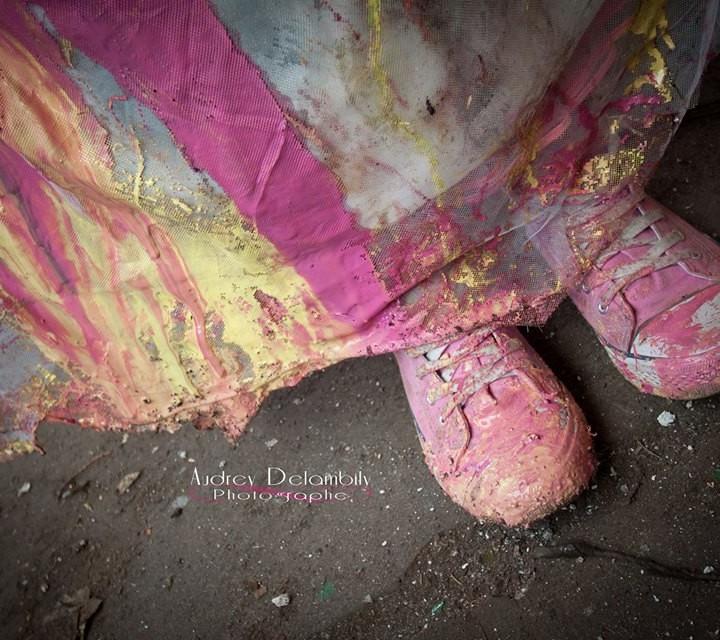 Un Trash the Dress ... coloré !