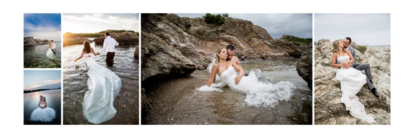 Séance photo Trash The Dress sur la plage