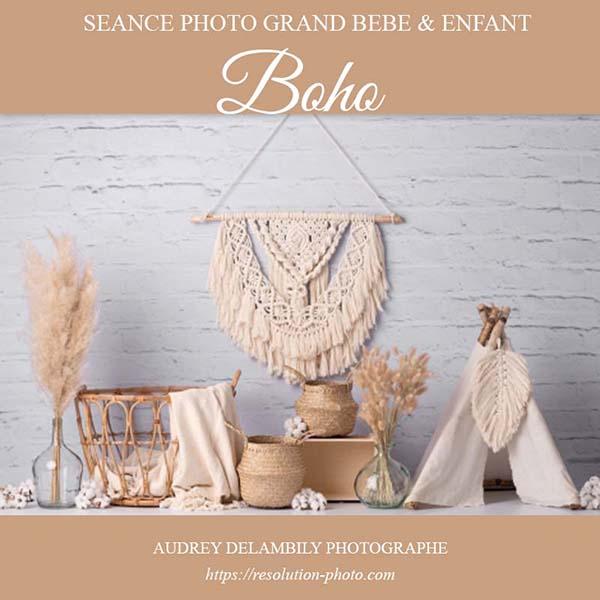 Séance photo avec décor Boho pour enfants à Toulon