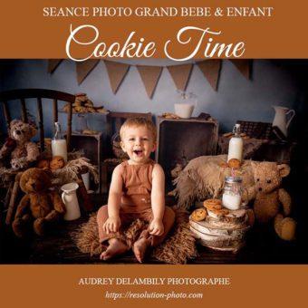 Séance photo avec décor Cookies Time pour enfants à Toulon