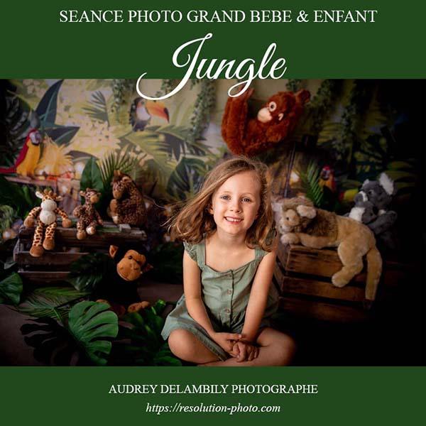 Séance photo avec décor Jungle pour enfants à Toulon